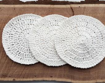 100% Cotton Washcloth - antique white.