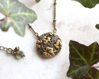Ivy Necklace, Gold Ivy Leaf Charm, Silver Ivy Jewelry, Ivy Vine Necklace, Botanical Jewelry, Ivy Pendant, Ivy Leaf Jewelry, Ivy Jewellery
