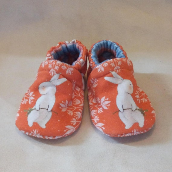 Snowflake Bunnies: Soft Sole Baby Shoes 3-6M