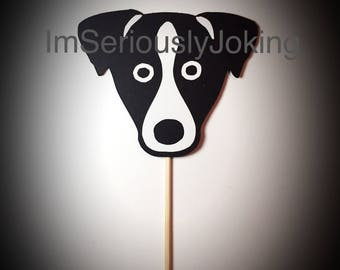 Cupcake Toppers-12 Jack Russell- Jack Russell terrier- Cupcake Toppers- Birthday party-dog party-puppy-mans best friend-rescue dog