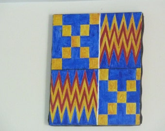 Original paintings: kente motifs