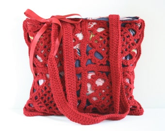 Crochet shoulderbag Robin