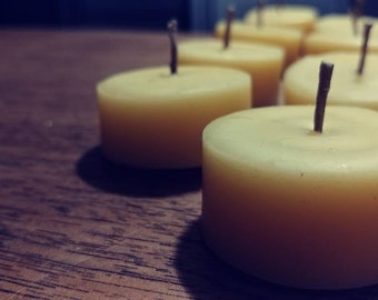 Organic Beeswax Unscented Beeswax Tealight Candles