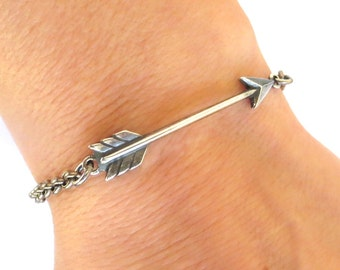 NEW Steampunk Arrow Bracelet Arrow Anklet Hunger Games Inspired Sterling Silver Ox Finish or Antiqued Brass Ox Finish