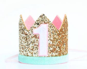 First Birthday Girl Outfit | 1st Birthday Girl Outfit | 1st Birthday Crown | First Birthday Crown Of Glitter | Birthday Hat