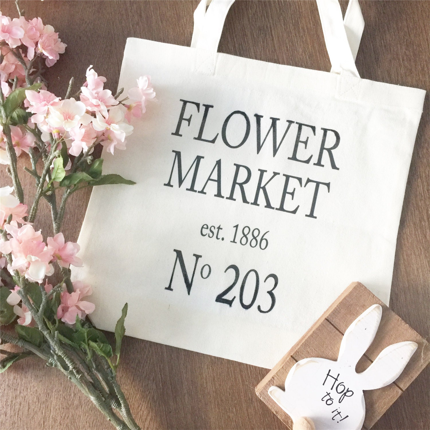 Reusable Grocery Bag Canvas Bag Canvas Tote Flower