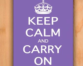 Mousepad Keep Calm Carry On Purple