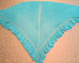 RUFFLES & FLOURISHES Knitted Shawl in pdf