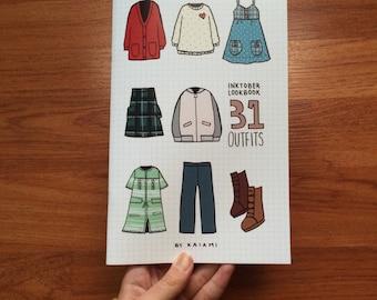 31 Outfits Inktober Lookbook Compilation Zine