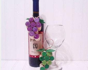 Wine Cork Grape Christmas Ornament