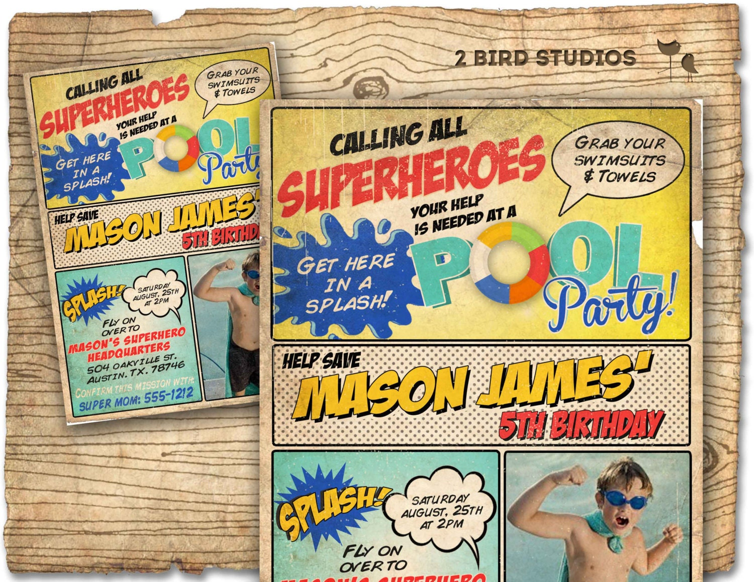 Superhero invitation Superhero party invitation Superhero