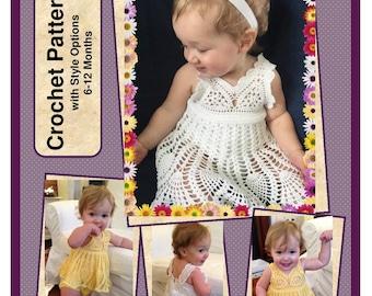 Baby Girl Sundress Onesie Crochet Pattern