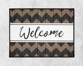 Custom Welcome Mat - Custom Doormat - Farmhouse Door Mat - Rustic Doormat - Indoor Outdoor Mat - Wedding Gift - Housewarming - New Home Gift