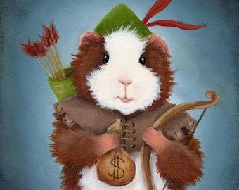 Robin Hood Guinea Pig Art Print