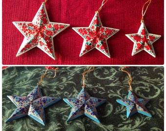 Christmas Star Ornament Set of 3