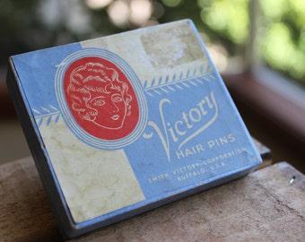 Vintage 1940's Victory Hair Pins