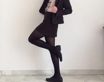 Suit Gianfranco Ferrè with miniskirt and brown blazer. Size 42