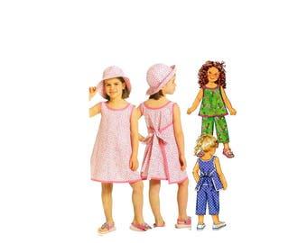 2000 Sewing Pattern - Butterick 5019 - Girls Wrap Dress Top Capris UNCUT