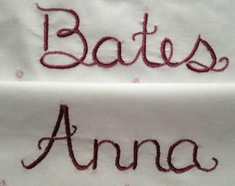 Downton Abbey, taies d'oreiller, broderie à la main, décor brodé, cadeau romantique, cadeau de Couples, chalet chic