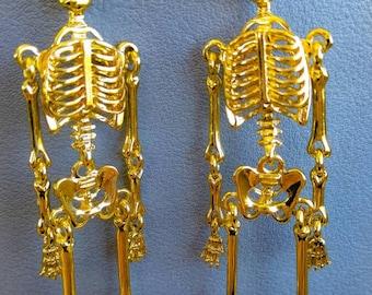 Skelleton earrings.