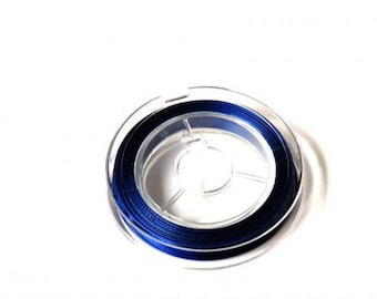 Roll of wire (0.38 mm) - 10 m - blue - FILM17BLE0704