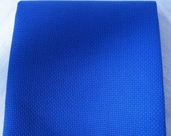 18 count Royal blue Aida - Cut Piece 37.5 x 45cm, Christmas Cross stitch fabric, easy fabric to work with. 18 count Aida fabric. Aida