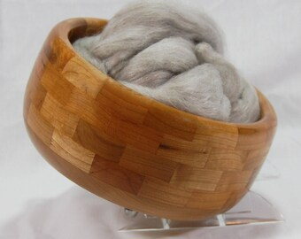 Cherry Wooden Yarn Bowl