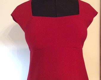 Red Empire line Ladies Dress