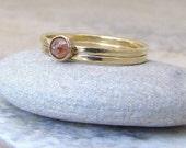 Diamond Engagement Ring Gold Wedding Band Wedding Ring Set 14K Rose Cut Diamond Ring