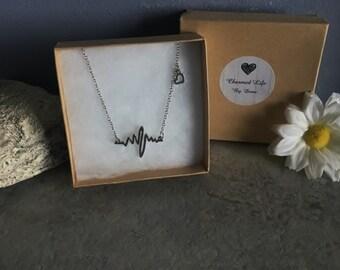 EKG Heart Beat Necklace