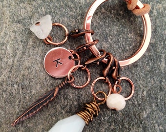 Stitchmarkers Progresskeepers white Modern Boheme jewelry for knitters and makers.
