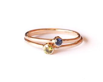 14k Sphene Shining Goddess   14k Gold Ring