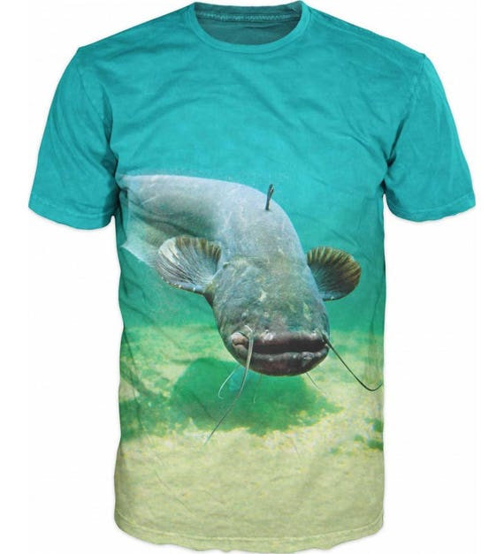 Cool Mens T-shirt 3D Catfish Sublimation Printed Catfish Fishing Hobby x6d6IQ9U