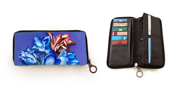 Retro wallet, vintage wallet, Porcelain, gift for her, gift mom, Woody Ellen bag, valentine gift, christmas gift ideas, wallet floral print
