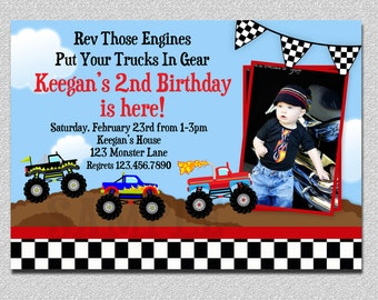 Monster Truck Birthday Invitation, Truck Birthday Party Invitation, Boys Truck Birthday Invitation, Monster Truck Birthday Party, Printable