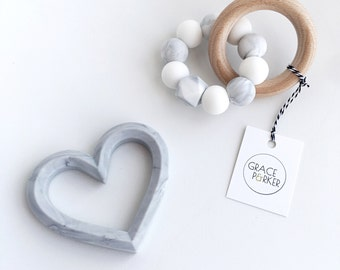 MILKY WAY Baby Teether Toy // Wooden Teether// Silicone Teether // Silicone beads // Rattle // Teething Ring