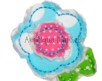Machine Embroidery Design Applique Raggy Flower Two Layers INSTANT DOWNLOAD