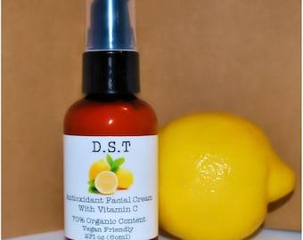 Antioxidant Facial Cream With Vitamin C (Paraben Free)(Vegan Friendly)