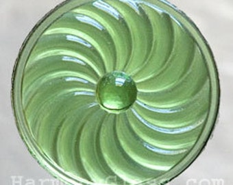 Green Pinwheel Stained Glass Jewel 50mm