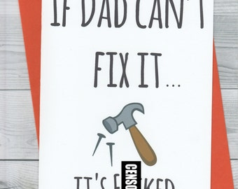 Dad birthday card etsy if dad cant fix it fathers day rude funny birthday bookmarktalkfo Choice Image