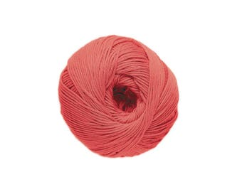 Cotton knit or crochet coral 18 Natura