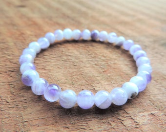 Amethyst Bracelet, Pain Chakra Bracelet, Healing Meditation Bracelet, Yoga Bracelet, Wrist Mala, Buddhist Bracelet, Crown Chakra Bracelet