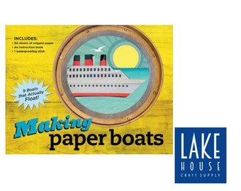 Origami, Making Paper Boats. Paper Boats That Float. Origami KIT Paper Boats. CLEARANCE