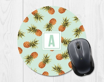 Pineapple Mouse pad Monogram Cute Mouse pad Mint Mouse Pad Monogram Mouse Pad Mint Green Mouse Pad Pineapple Mousepad Monogram Mousepad