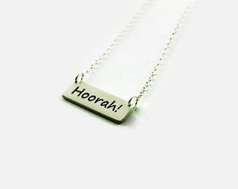 Hoorah Necklace - Navy Seabee Pride Necklace