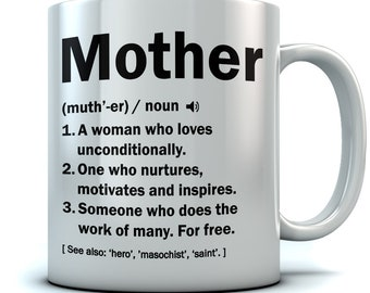 Mother Definition Coffee Mug - Best Mother's Day Gift Ceramic Coffee Mug