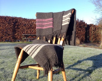 100% pure Shetland wool handwoven scarf