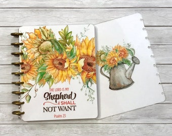 MAMBI Classic Happy Planner Cover Set - Laminated MAMBI Cover - Christian Planner Cover - Disc Bound Cover - The Lord is My Shepard