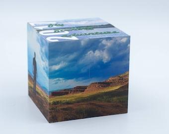 Memory keepsake- Photo Block - Photo puzzle, Photo block puzzle, Photo Cube, Vacation memories, Home Decor - Keepsake - Gift - Cube - Photos