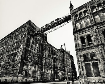 Milwaukee Photography - Pabst Factory Black & White Photograph - Milwaukee, Wisconsin 8x10 photo